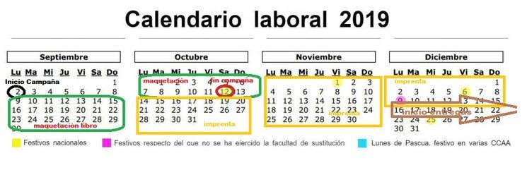 Planteamiento del calendario