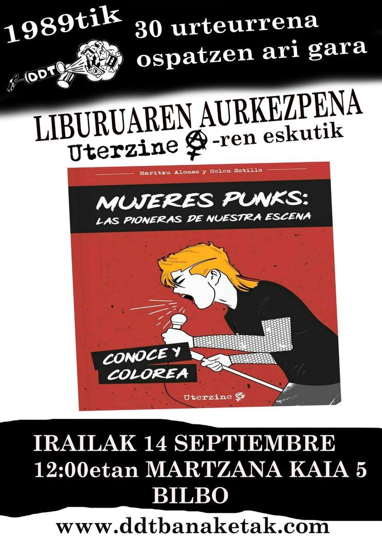 Cartel de la presentación en la DDT de Bilbao.
