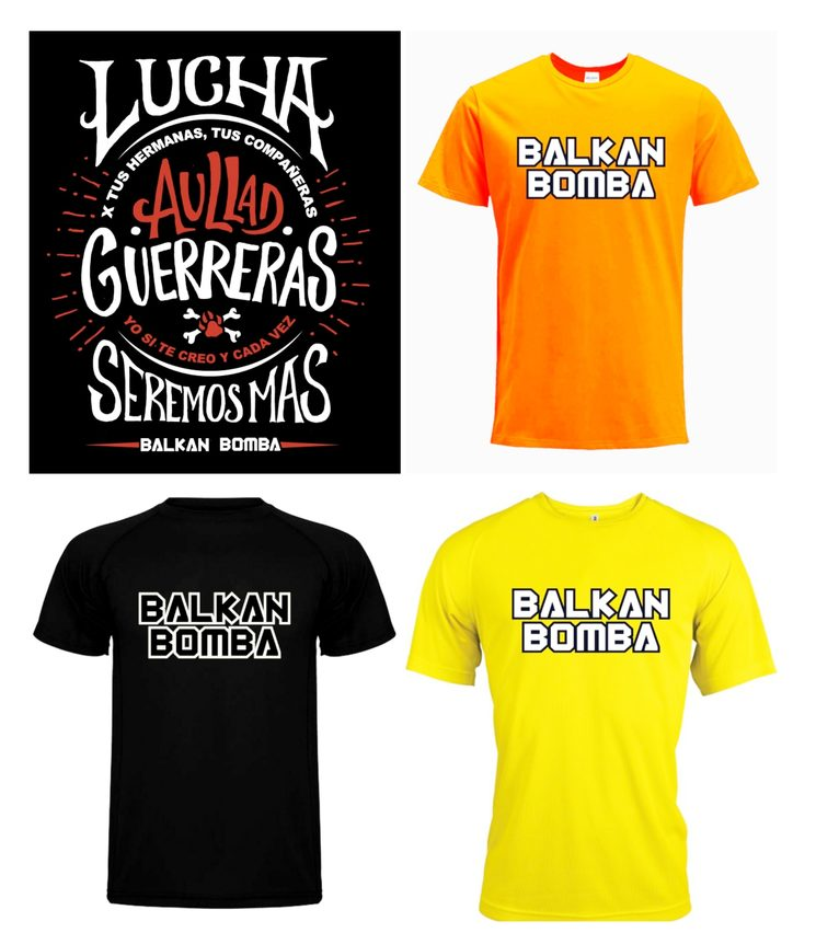 Los 4 diseños de Camisetas Balkan Bomba