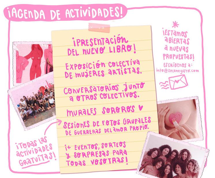 Agenda de actividades. Todas las fechas las confirmaremos en nuestro instagram @solamegusto