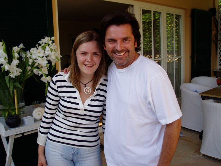 Photo taken in Ibiza in the chalet of singer Thomas Anders.