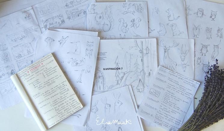 Proceso creativo, documentando la historia y creando los primeros bocetos