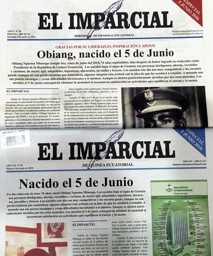 """Dos años de diferencia, la misma portada laudatoria y """"imparcial"""""""