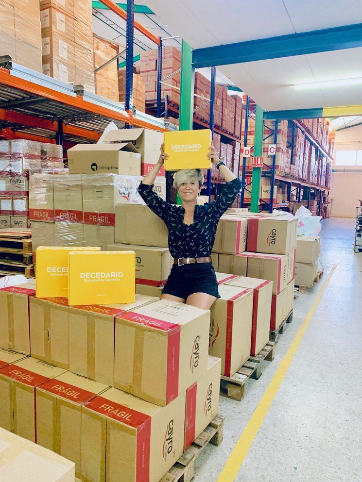 Diana de Arias en la fábrica