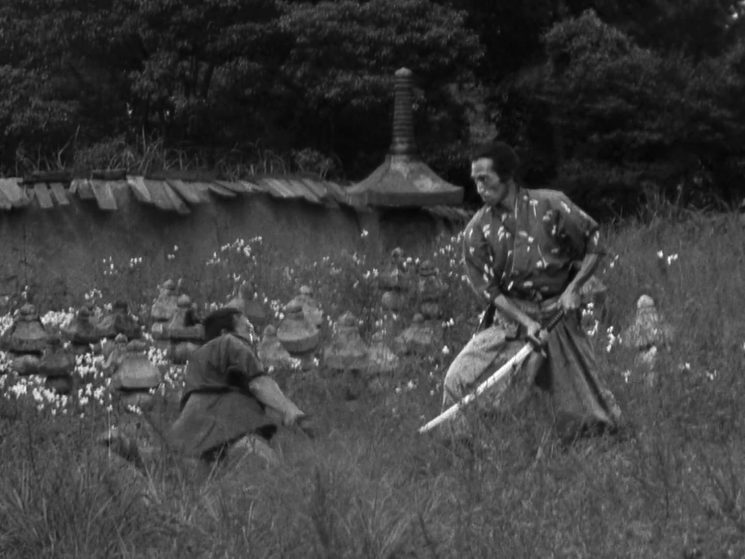 "Fotograma de la película ""Los siete samuráis"""