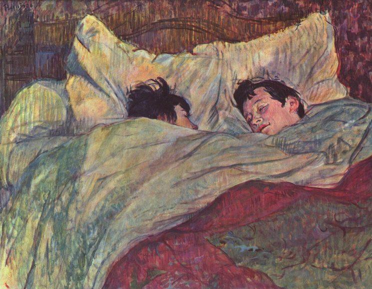 Dans le lit, Toulouse Lautrec