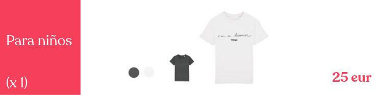 Camiseta niño soñador, 2 colores a escoger, calidad premium