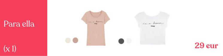 Camisetas mujer en 2 modelos y varios colores a escoger, calidad premium