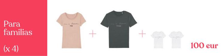 Para familias soñadoras, colores y modelos a escoger (2 niño + 2 adulto)