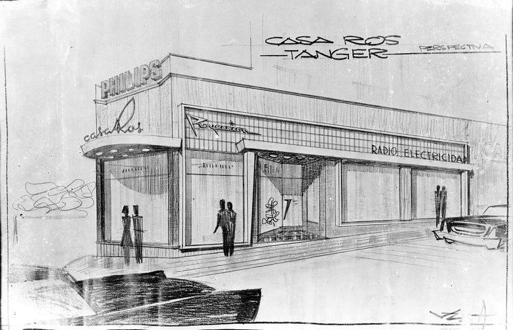 Proyecto para la edificación de la tienda de Casa Ros en Tánger. Años 20.