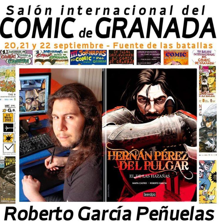 Roberto en el XXV Salón del Cómic de Granada