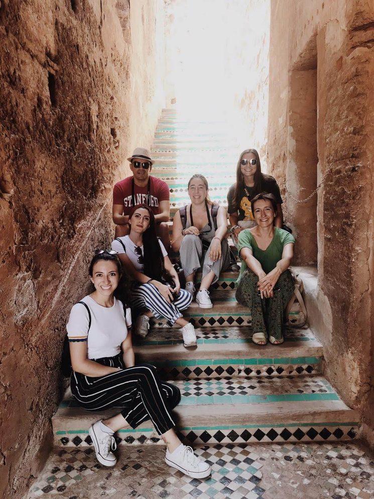 Equipo Ágora en el Palacio el Badi, Marrakech
