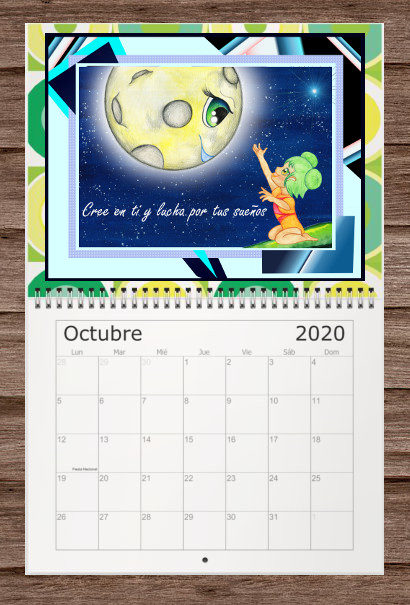 Calendario con bonitos mensajes para cada mes