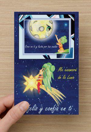 Una bonita tarjeta dedicada personalmente