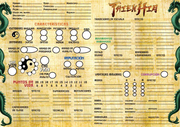 Ficha de personaje jugador Thien Hia