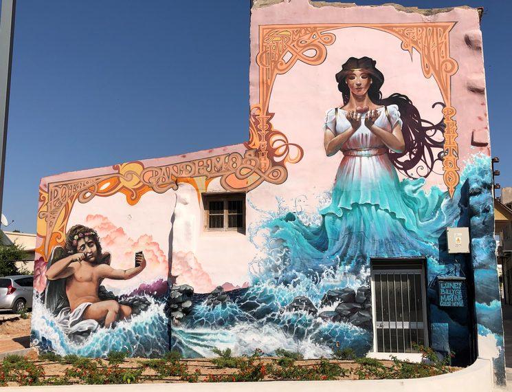 Arte por las calles de Pafos.