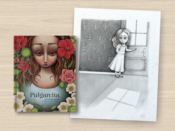 "Libro Pulgarcita & Boceto Original Inédito ""Escape room"""
