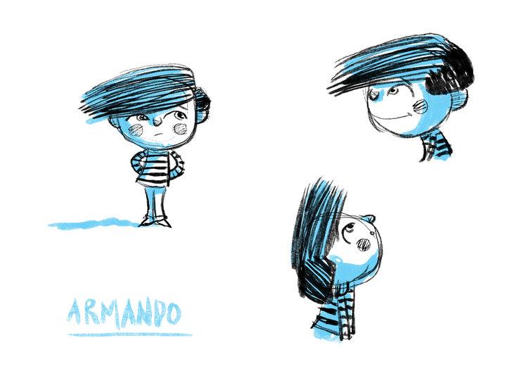 Este es Armando,le dicen que llorar es de niñas...