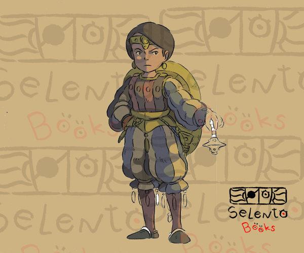 Boceto del protagonista Guilú