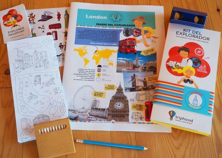 Detalle del contenido del Kit del Explorador de Londres