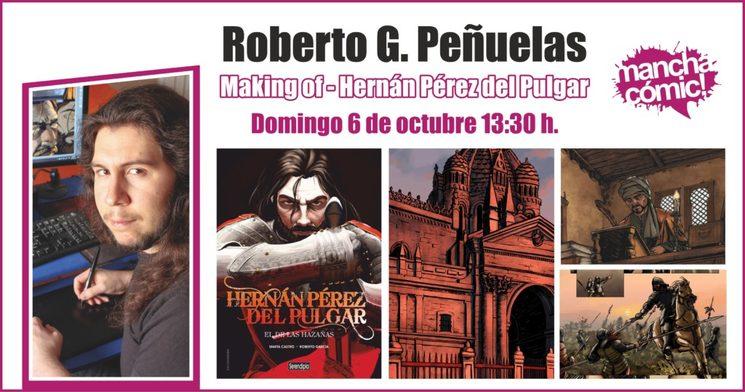 Roberto y Hernán en el VI Manchacómic