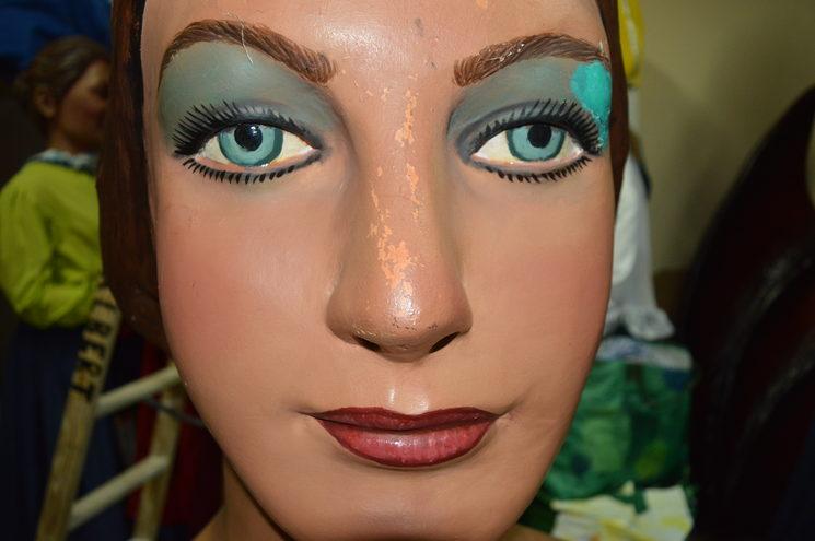 Desperfectes rostre de la geganta.