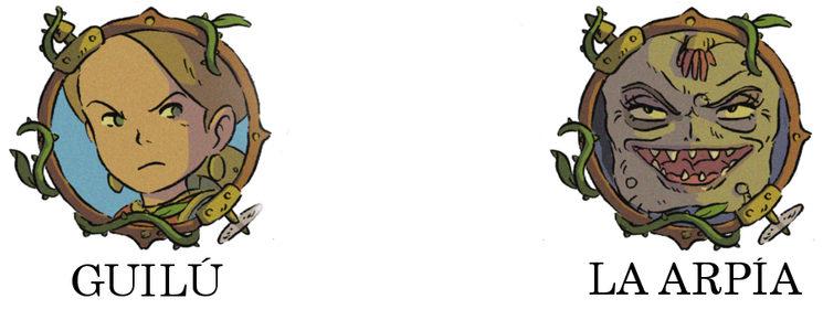 Bocetos de personajes. No definitivos.
