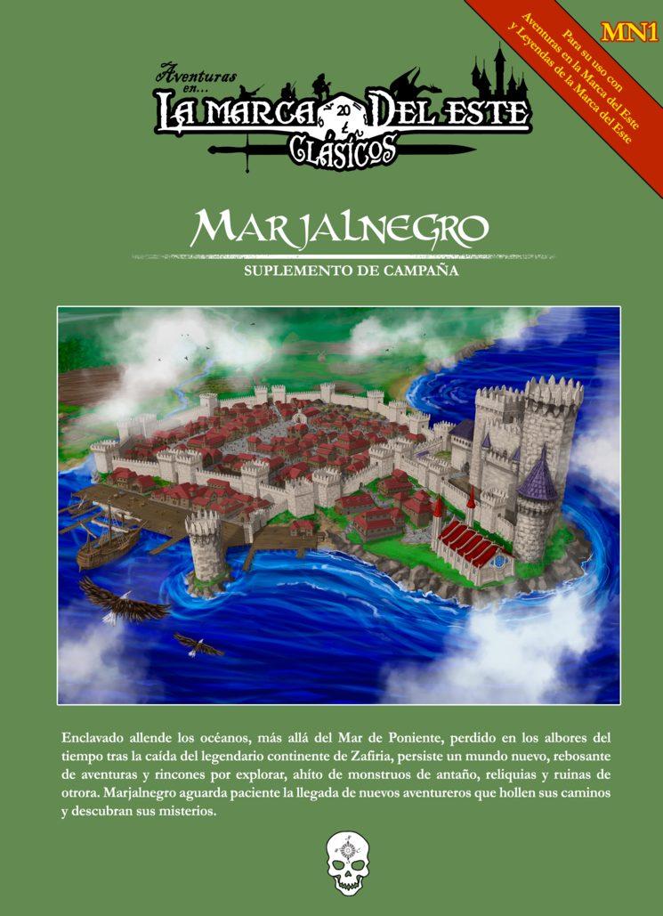 Portada de Marjalnegro, ilustración de portada de Daniel Caro
