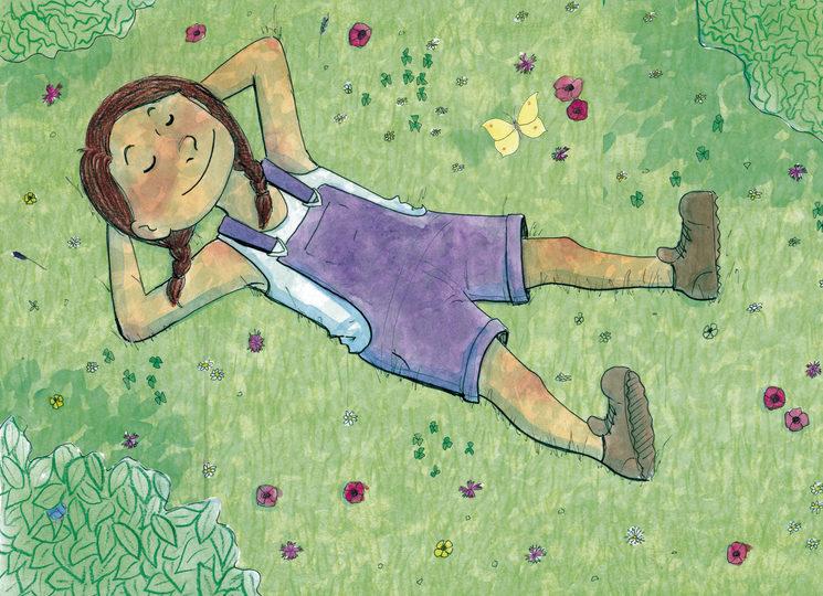 Lily en primavera.
