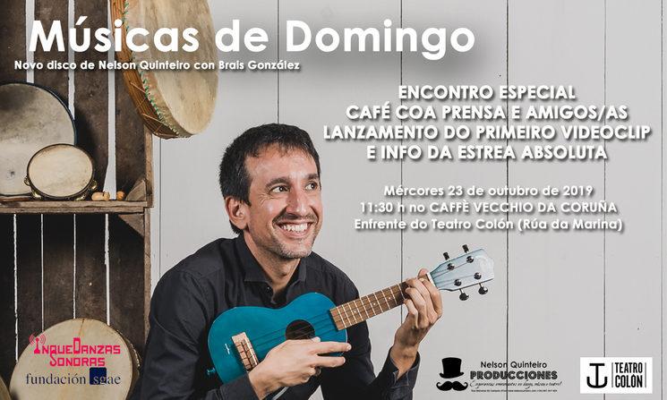 Músicas de Domingo: Acto especial ante a prensa de presentación da nosa estrea absoluta no Teatro Colón.