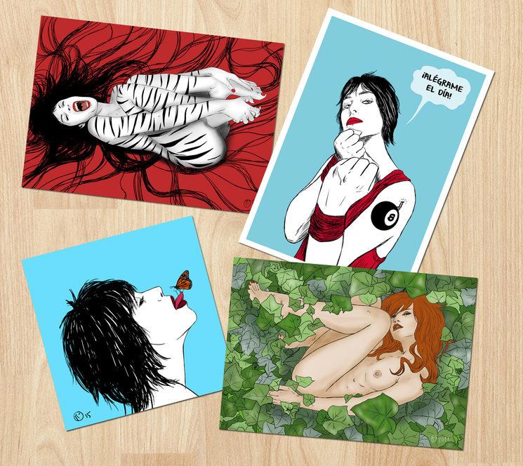 Varias ilustraciones de Pi Ortiz