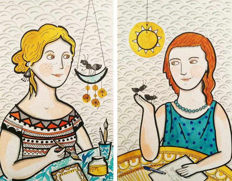 Susana, dibuja nuestro viaje y Ana cuenta nuestro cuento!