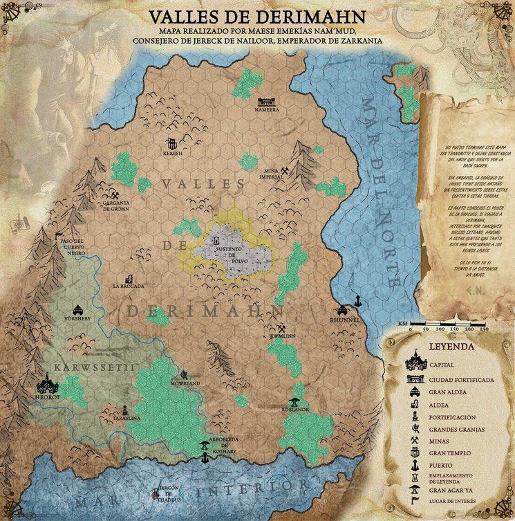 Mapa hexagonado Valles de Derimahn