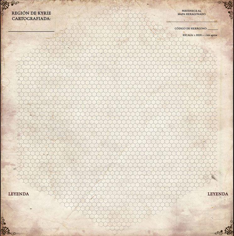 Detalle minimalista de cada hexágono.
