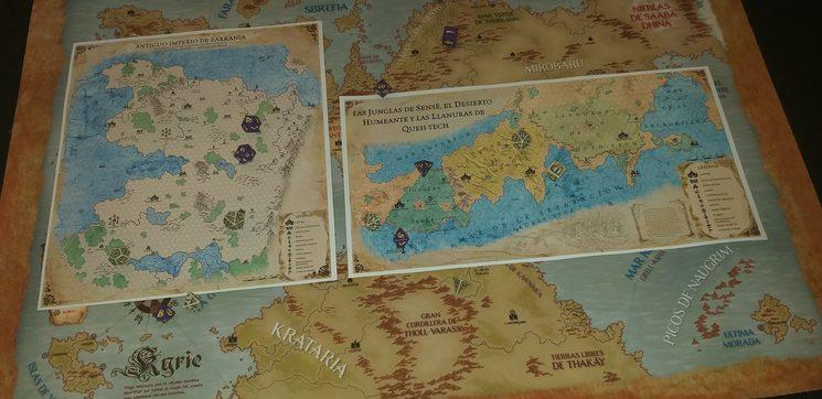 escala de los mapas comparados con el tapete A1.