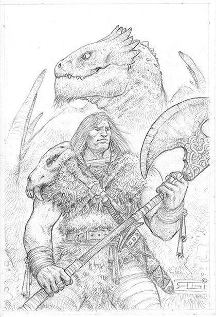"""""""El hermoso dragolito rojo fuego se tumbó al lado del bárbaro"""""""
