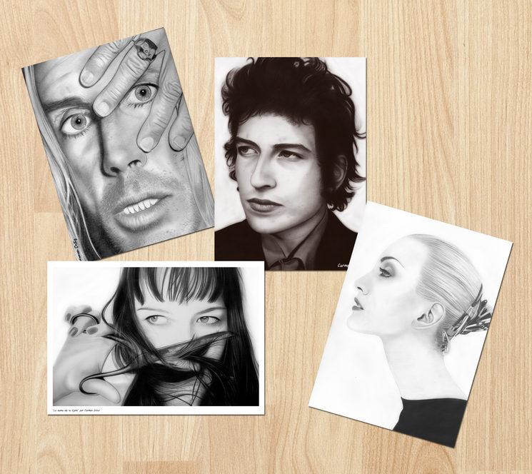 Ilustraciones A3 realizadas por Carmen Ortiz