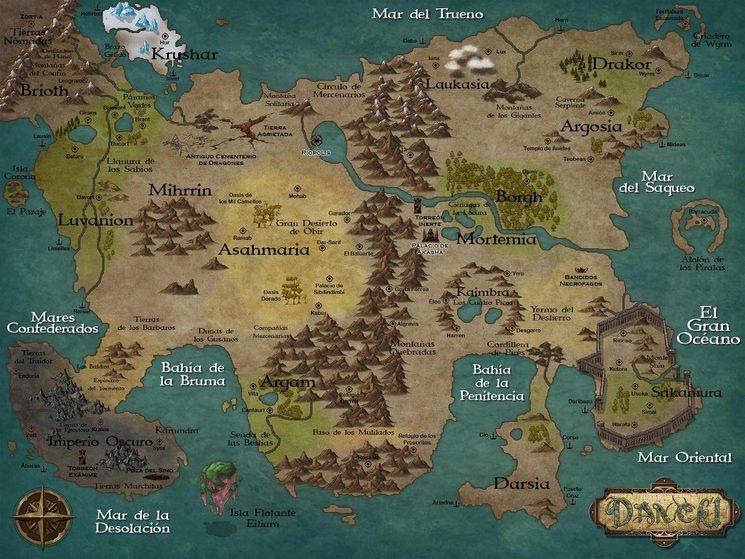 Mapa del viejo continente