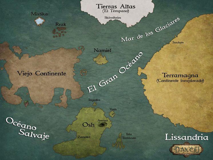 Mapa Lissandria