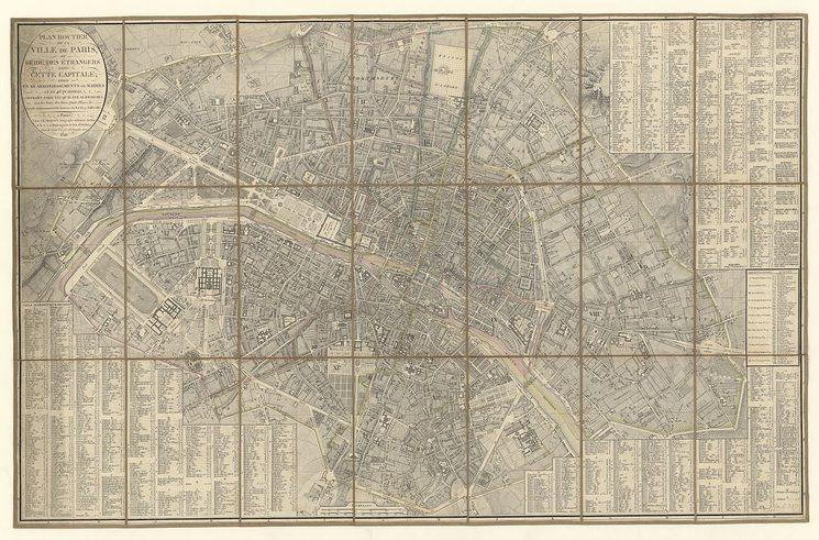 Plano de París en 1821