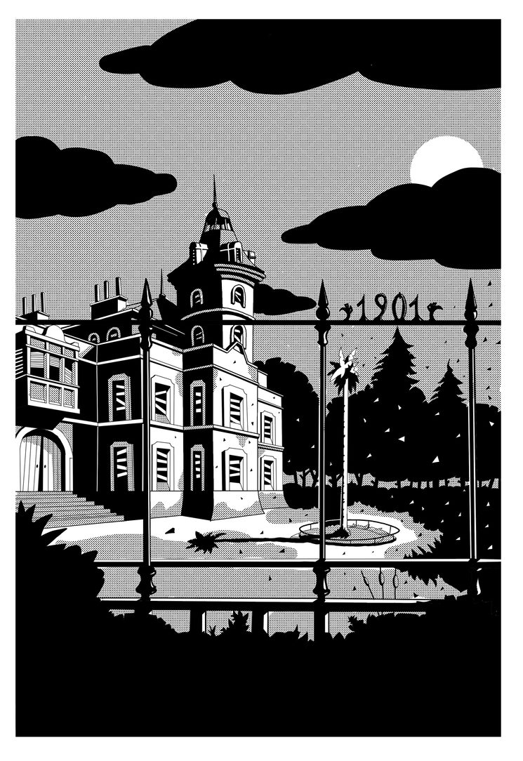 Ilustración final de Retiro de Fuste, por Jorge M. Meana
