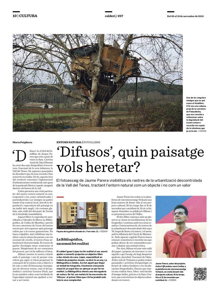 Article de Marta Puigdueta al Calderí de Caldes de Montbui