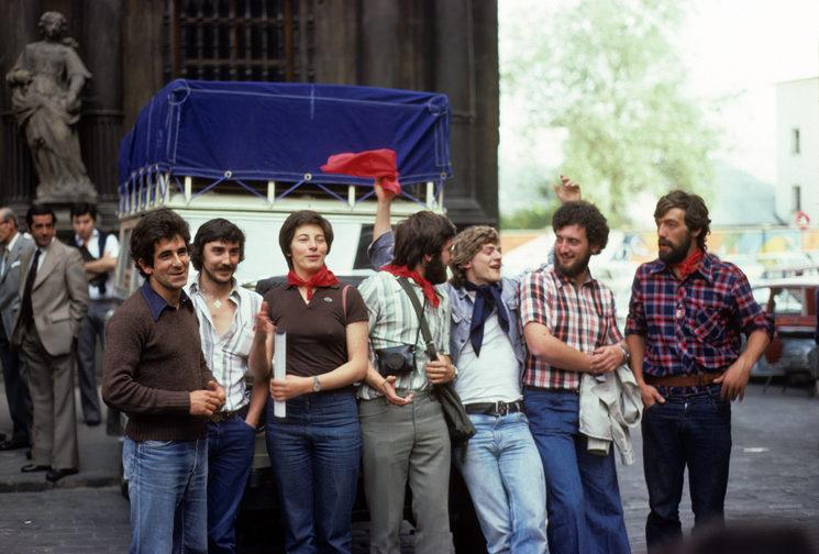 Pamplona 15 de Junio de 1976: Con Trini Cornellana / Javier Garreta / Javier Pastor / Leandro Arbeloa / ...