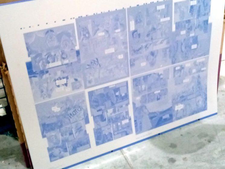 Preparando la impresión en Las Ideas del Ático