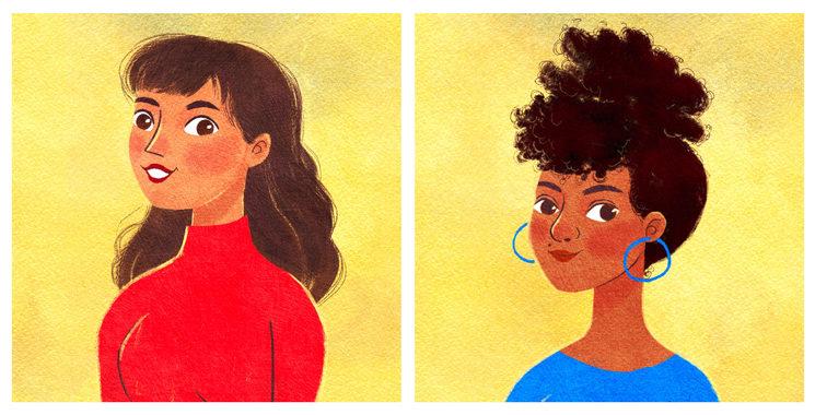 Camila y Lydia, por Lydia Mba.