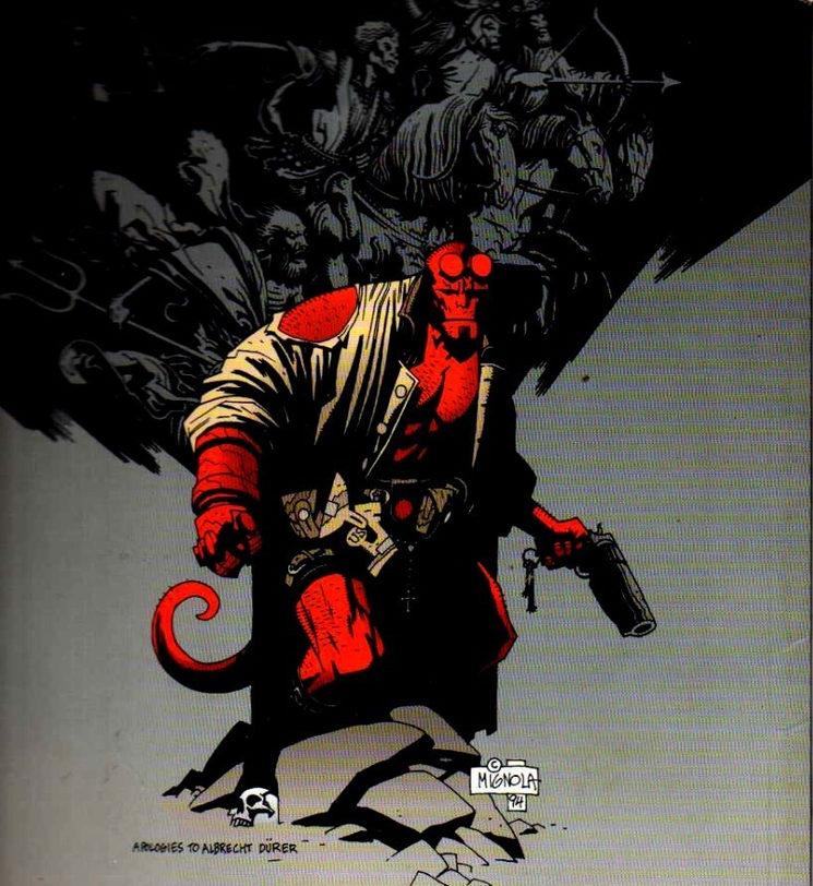 Hellboy, dibujado por Mike Mignola