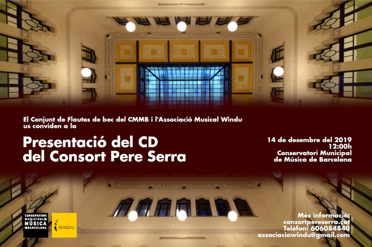 Presentació del CD del Consort Pere Serra