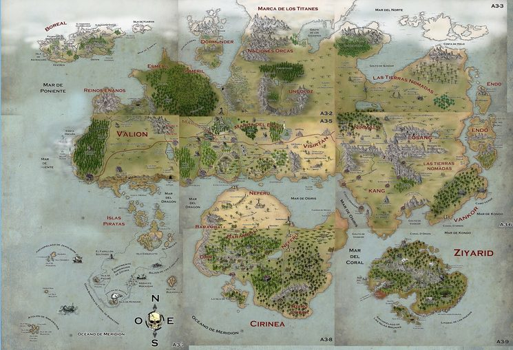 Nueva recompensa: mapa completo de Valion incluyendo el nuevo continente de Marjalnegro