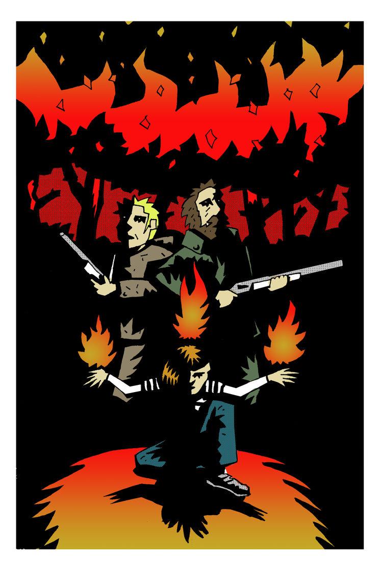 """Lámina """"Fuego en el bosque"""", obra de Jorge M. Meana"""
