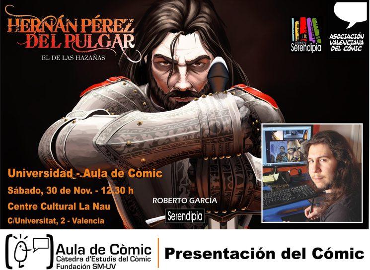 Presentación en Aula de Cómic Universidad de Valencia